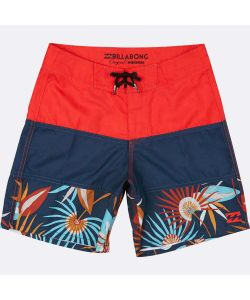 Billabong Tribong Og 15 Bright Red Kids Men's Boardshort