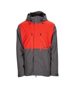 Bonfire Firma 3-In-1 Stretch Battleship/ Red Men's Snow Jacket