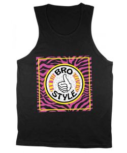 Bro Style Crazy Eighties Black Men's Tank