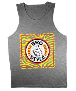 Bro Style Crazy Eighties Grey Heather Men's Tank