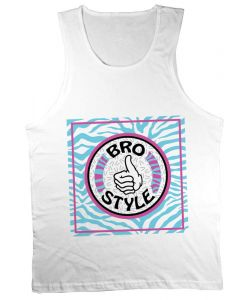 Bro Style Crazy Eighties White Men's Tank