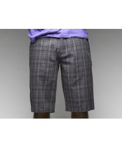 C1rca  Tailor Plaid Light Charcoal Men's Short