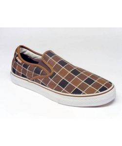 C1rca AL50 Slips Chocolate Gold Plaid Men's Shoes