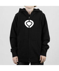 C1rca Corp Logo Black Youth Zip Hood