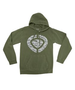 C1rca Icon Skull Military Green Men's Hoodie