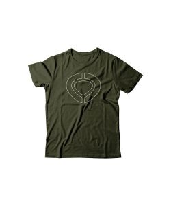 C1RCA ICON TRACK MILITARY GREEN T-SHIRT