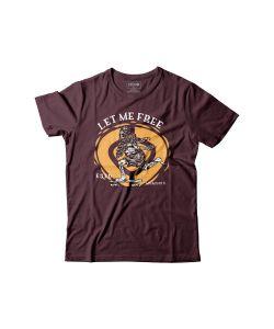 C1rca Let Me Free Maroon Men's T-shirt