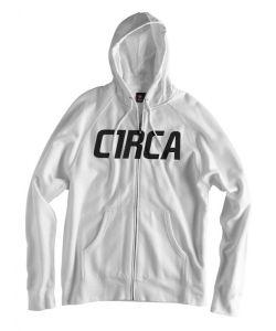 C1rca Mainline Font White Ανδρικό Φούτερ Φερμουάρ