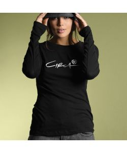 C1rca Script Icon Black Women's Long Sleeve T-Shirt