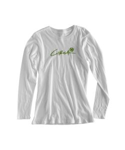 C1rca Script Icon White Women's Long Sleeve T-Shirt