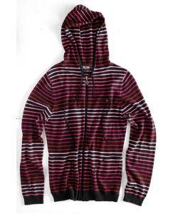 C1rca Zip Hood Sweater Black Γυναικείο Φούτερ Φερμουάρ