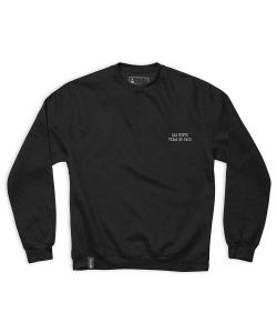 Chocolate Cinema Paco Crewneck Fleece Black