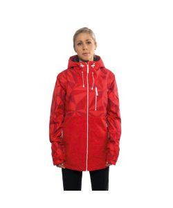 Colour Wear Cake Red Ceramic Women's Snow Jacket