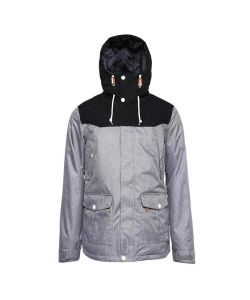 Colour Wear Charge Grey Melange Men's Snow Jacket