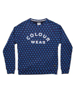 COLOUR WEAR COLOUR CREW NAVY DOT ΦΟΥΤΕΡ