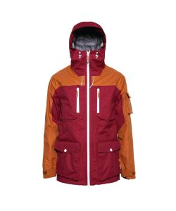 Colour Wear Falk Burgundy Men's Snow Jacket