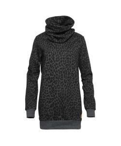Colour Wear Hype Black Leo Γυναικείο Φούτερ Κουκούλα
