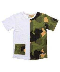 Colour Wear Point Asymmetric Olive Women's T-Shirt