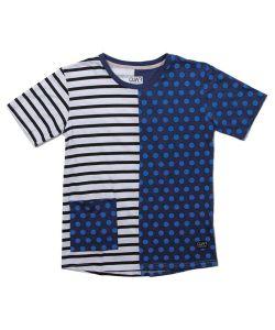 Colour Wear Point Navy Dot Women's T-Shirt