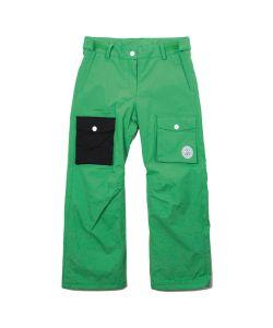 Colour Wear Poke Key Green Youth Snow Pants