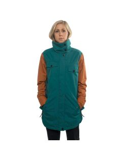 Colour Wear Raid Bottle Green Women's Snow Jacket