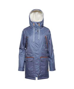Colour Wear Range Parka Denim Blue Women's Jacket