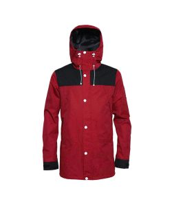 Colour Wear Rock Burgundy Men's Snow Jacket
