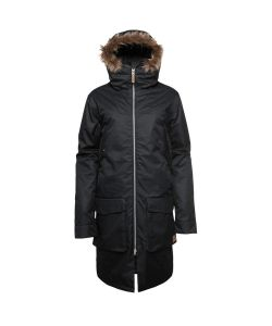 Colour Wear Satchel Parka Black Men's Snow Jacket