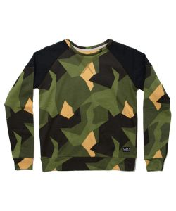 Colour Wear Shade Crew Asymmetric Olive Women's Crew