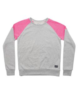 Colour Wear Shade Grey Melange Women's Crew