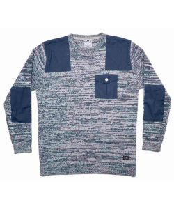 Colour Wear Sid Navy Melange Men's Sweater