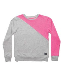 Colour Wear Slice Grey Melange Women's Crew
