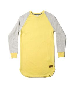 Colour Wear Slit Yellow Cream Melange Women's Crew