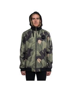 Colour Wear Stage Asymmetric Olive Windbreaker