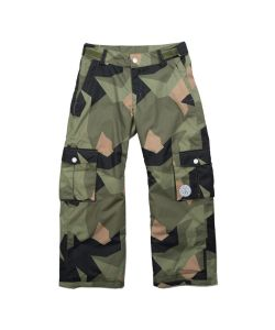 Colour Wear Trooper Asymmetric Olive Youth Snow Pants