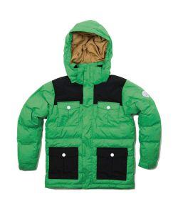 Colour Wear Trooper Key Green Youth Snow Jacket