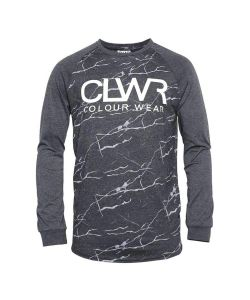 Colour Wear Ttr Black Marble Men's Long Sleeve T-Shirt