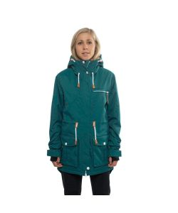 Colour Wear Up Parka Bottle Green Γυναικείο Μπουφάν Snowboard