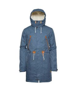 Colour Wear Urban Parka Denim Blue Men's Jacket