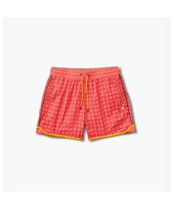 Diamond Checkered Cross Coral Shorts