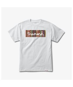 Diamond Color Ply Box Logo White Men's T-Shirt
