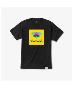 Diamond Lotus Box Sign Black Men's T-Shirt