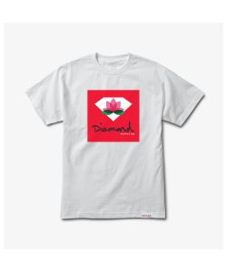 Diamond Lotus Box Sign White Men's T-Shirt