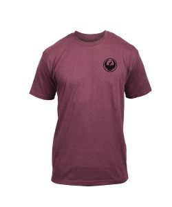 DRAGON ICON CHEST BURGUNDY T-SHIRT