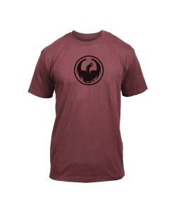 DRAGON ICON TWO BURGUNDY HEATHER T-SHIRT