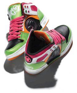 DVS Aces High Pink Orange Green Leather Γυναικεία Παπούτσια
