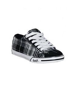 DVS Farah Black White Plaid Canvas Women's Shoes