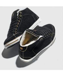 DVS Farah Mid Black Suede Women's Shoes
