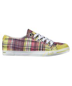 DVS Farah Yellow Plaid Canvas Women's Shoes