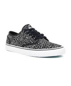 DVS Rico Ct Black White Print Canvas Men's Shoes